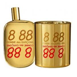 888Comme Des Garcons<br>Год выпуска: 2008 Производство: Испания Семейство: восточные пряные Верхние ноты:  Кориандр, Папирус, куркума Средние ноты:  Ладан, Герань, Индийский шафран Базовые ноты:  пачули,  Амбра 888 от Comme Des Garcons. Имеет ли золото аромат? Этим вопросом задались парфюмеры компании Comme des Garcons, и принялись искать искать обонятельное выражение этого благородного металла. В итоге был создан аромат 888. Было использовано множество составляющих, но в конечном итоге остановились на Сафралине. Это молекулярное производное шафрана, созданное Шведским парфюмерным домом Givaudan, один из парфюмеров которого, Антуан Ли и создал аромат 888. Он смешал ноты американского перца, куркумы, кориандра и герани, добавил эссенцию пачули.<br><br>Линейка: 888<br>Объем мл: 100<br>Пол: Женский<br>Аромат: восточные пряные<br>Ноты: Кориандр, Папирус, куркума,  Ладан, Герань, Индийский шафран,  пачули,  Амбра<br>Тип: парфюмерная вода-тестер<br>Тестер: да