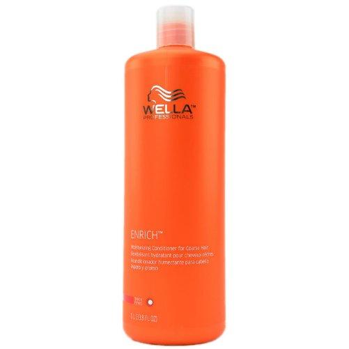 Enrich Moisturising Conditioner For Coarse HairWella Professional<br>Производство: Германия Семейство: восточные Питательный бальзам для увлажнения жестких волос. Это средство создано для более интенсивного и качественного ухода за жесткими волосами. Состав средства действительно уникальный, содержит в себе витамин Е, пантенол, глиоксиловая кислота, экстракт шелка и эксклюзивная салонная формула, которая восстанавливает и нормализует состояние волос как снаружи, так и изнутри. Такая формула делает волосы шелковистыми и мягкими. Растительные компоненты заботятся о кератине в структуре волос. Вследствие регулярного применения питательного бальзама для увлажнения жестких волос каждый отдельный волосок наполняются силой и насыщаются питательными полезными веществами. Волосы послушные и роскошные. Применение: бальзам следует использовать после применения шампуня этой же серии, наносить на влажные волосы, оставить на 10 минут для интенсивного влияния, после чего промыть тщательно волосы. Комплексное воздействие оказывает регенерирующий и надежный эффект. Подходит для волос любой длины и любого типа.<br><br>Линейка: Enrich Moisturising Conditioner For Coarse Hair<br>Объем мл: 200<br>Пол: Женский<br>Аромат: восточные