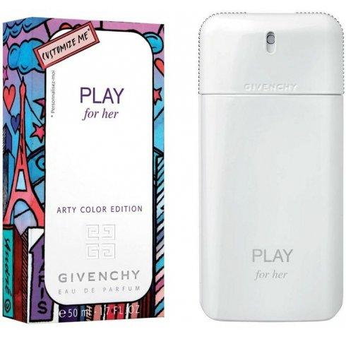 Play Arty Color EditionGivenchy<br>Производство: Франция Парфюмированная композиция Givenchy Play Arty Color Edition представлена цветочно-фруктовым ароматом. Духи адресованы сексуальным женщинам, любящим жизнь. Цветочное сердце наполнено розой, магнолией и цветком Тиаре. Дополняют его пьянящий аромат душистого горошка, дерево Амурис и сандал. В легком шлейфе ощущаются ноты чувственного мускуса. Духи Живанши Плэй Арти Колор Эдишн слегка дерзкие. Они подчеркивают сильный характер женщины.<br>В магазине оригинальной парфюмерии вы закажите элитные духи по стоимости производителя. Мы предлагаем лучшую коллекцию изданий Живанши. Аромат станет незаменимым аксессуаром в теплые летние дни. <br><br>Линейка: Play Arty Color Edition<br>Объем мл: 50<br>Пол: Женский