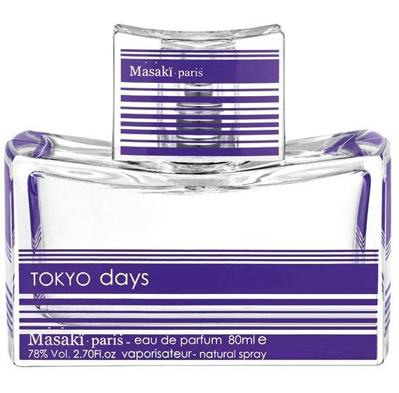 Tokyo DaysMasaki Matsushima<br>Год выпуска: 2013 Производство: Франция Семейство: цветочные Верхние ноты:  Дыня, Юзу, Тангерин Средние ноты:  Жасмин, роза, Персик, Пион, цветок черешни Базовые ноты:  Мускус Tokyo Days Masaki Matsushima (Токио Дэйс от Масаки Матушима) - это аромат для женщин, принадлежит к группе ароматов цветочные. Это новый аромат, Tokyo Days выпущен в 2013. Верхние ноты: Юзу, Дыня и Тангерин; ноты сердца: Пион, жасмин Самбак, Белая роза, цветок черешни и Персик; базовая нота: Белый мускус.<br><br>Линейка: Tokyo Days<br>Объем мл: 80<br>Пол: Женский<br>Аромат: цветочные<br>Ноты: Дыня, Юзу, Тангерин,  Жасмин, роза, Персик, Пион, цветок черешни,  Мускус<br>Тип: парфюмерная вода-тестер<br>Тестер: да