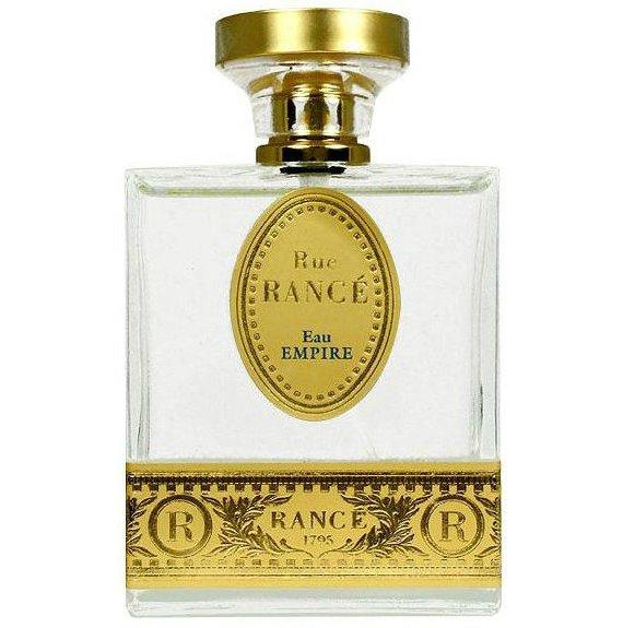 Eau Impire (Rue Rance)Rance 1795<br>Производство: Испания Семейство: цветочные древесно-мускусные Верхние ноты:  Бергамот, Сандаловое дерево, Мускус, грейпфрут, Ландыш, чай, мускатный орех, Магнолия, Герань, Гальбанум Eau Impire (Rue Rance) Rance 1795 - это аромат для мужчин и женщин, принадлежит к группе ароматов цветочные древесно-мускусные. Парфюмер: Jeanne Sandra Rance. Композиция аромата включает ноты: мускатный орех, Магнолия, Сандаловое дерево, Мускус, Гальбанум, Зеленый чай, грейпфрут, Ландыш, Бергамот и Герань.<br><br>Линейка: Eau Impire (Rue Rance)<br>Объем мл: 100<br>Пол: Унисекс<br>Аромат: цветочные древесно-мускусные<br>Ноты: Бергамот, Сандаловое дерево, Мускус, грейпфрут, Ландыш, чай, мускатный орех, Магнолия, Герань, Гальбанум<br>Тип: туалетная вода-тестер<br>Тестер: да