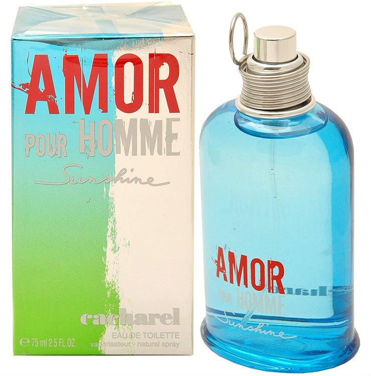 Amor pour Homme SunshineCacharel<br>Производство: Франция Семейство: фужерные пряные Верхние ноты:  мандарин, грейпфрут, Розовый перец, чай, Базилик Средние ноты:  роза, Палисандр, мускатный орех, кардамон, Шиповник Базовые ноты:  Ветивер, Мускус Amor pour Homme Sunshine Cacharel - это аромат для мужчин, принадлежит к группе ароматов фужерные пряные. Верхние ноты: Розовый перец, мандарин, ледяной чай, Базилик и грейпфрут; ноты сердца: мускатный орех, Шиповник, роза, Палисандр и кардамон; ноты базы: Мускус и Ветивер.&amp;nbsp;<br><br>Линейка: Amor pour Homme Sunshine<br>Объем мл: 75<br>Пол: Мужской<br>Аромат: фужерные пряные<br>Ноты: мандарин, грейпфрут, Розовый перец, чай, Базилик,  роза, Палисандр, мускатный орех, кардамон, Шиповник,  Ветивер, Мускус<br>Тип: туалетная вода<br>Тестер: нет