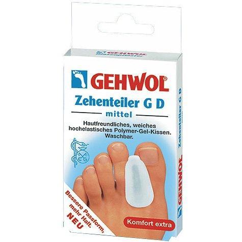 Zehenteiler GDGehwol<br>Производство: Германия Гель-корректор GD (Zehenteiler GD) Предназначен для профилактики и коррекции деформаций пальцев. Корректирует и сохраняет физиологическое положение пальца в обуви, что особенно важно при искривлениях, сопровождающихся выпирающей косточкой. Защищает от трения и приносит облегчение при наличии мозолей между пальцами. Корректирует тесно прижатые или надвинувшиеся друг на друга пальцы и исправляет их положение. В составе геля минеральные масла, смягчающие загрубевшую кожу. Корректор рекомендуется мыть в теплой воде с мылом.<br><br>Линейка: Zehenteiler GD<br>Объем мл: большой палец (3 шт.)<br>Пол: Унисекс