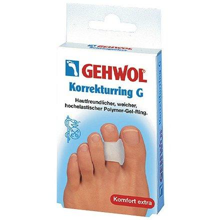 Korrekturring GGehwol<br>Производство: Германия Кольцо-корректор G (Korrekturring G) Применяется при частых деформациях, для исправления искривления пальцев ног. За счет того, что корректор отводит палец в сторону, в случае образования мозолей между пальцами, Ваша нога получает долгожданное облегчение. Расправляет и ставит палец ноги в нормальное для него положение. Затронутый сустав пальца разгружается, и снимаются болезненные ощущения и огрубелость кожи. Регулярное применение гель-корректоров позволит надежно защитить Вашу кожу от образования мозолей и натертых мест, а в случае их присутствия &amp;ndash; уменьшит болевые ощущения. Косметические гели, из которых состоит кольцо корректор G, основаны лишь на медицинских парафиновых и минеральных маслах, абсолютно без содержания силикона. Регулярное их использование обеспечивает непрерывное смягчение кожи. Интенсивно препятствуя образованию мозолей и натоптышей на коже, косметические средства усиливают защитные свойства Вашей кожи.<br><br>Линейка: Korrekturring G<br>Объем мл: 3 (шт.)<br>Пол: Унисекс