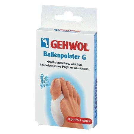 Ballenpolster GGehwol<br>Производство: Германия Накладка на большой палец (Ballenpolster G) Изготовлена из мягкого войлока с клеевым слоем, совершенно не раздражающим кожный покров. Накладка предназначена для защиты от болезненного сдавливания чувствительных участков кожи и облегчает проблемы с большими пальцами ног, а так же помогает коже оставаться мягкой, не допуская ороговения. Изготовленная из мягкого гель-полимера, она совершенно не раздражает кожный покров. А благодаря особым свойствам геля, накладка сразу же принимает форму пальцев. В составе накладки не содержатся отдушки, она состоит из гипоаллергенных материалов, не вызывающих раздражения кожного покрова. Накладка легко моется в теплой воде и дезинфицируется любыми средствами для кожи. Гели, входящие в состав накладки, создавались с заботой о нежной коже между пальцами и поэтому содержат только медицинские и минеральные гипоаллергенные масла, что обеспечивает регулярное смягчение кожи и усиливает ее восстановительные и защитные функции, не вызывая раздражений и аллергических реакций. Применение: Закрепите накладку на большом пальце с помощью широкой эластичной петли.<br><br>Линейка: Ballenpolster G<br>Объем мл: 1 (шт.)<br>Пол: Унисекс