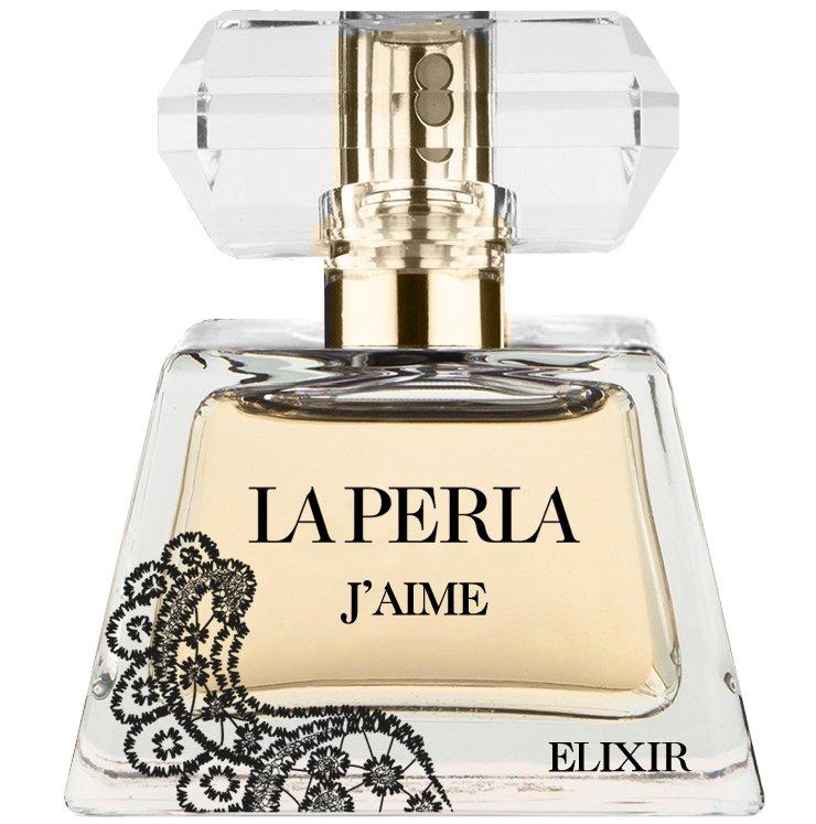 J'aime ElixirLa Perla<br>Производство: Италия JAime Elixir La Perla - это аромат для женщин, принадлежит к группе ароматов восточные цветочные. Это новый аромат, JAime Elixir выпущен в 2015. Верхние ноты: Бергамот, мандарин и черный перец; ноты сердца: роза, ирис и Гелиотроп; ноты базы: дубовый мох, Мускус и Карамель.&amp;nbsp;<br><br>Линейка: J'aime Elixir<br>Объем мл: 50<br>Пол: Женский