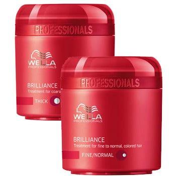 Brilliance Treatment For Coarse Colored HairWella Professional<br>Производство: Германия Семейство: восточные Крем-маска для окрашенных жестких волос. Это средство идеально подходит для того, чтобы усилить яркость цвета и защитить волосы, которое интенсивно воздействует на жесткие непослушные волосы. Бриллиантовая пыльца, которая содержится в формуле средства, придает волосам неповторимый блеск. Мягкость, послушность и ухоженный вид обеспечивается за счет содержащихся в составе аминокислот, витаминного и минерального комплекса. Средство обладает нежной текстурой, за счет чего хорошо наносится и замечательно впитывается, наполняя волосы упругостью и силой. В результате регулярного применения маски появляется при укладке дополнительный объем, волосы после окрашивания приобретают дополнительный особый уход, становятся более послушными и мягкими. Применение: следует равномерно наносить продукт на чистые мокрые волосы, для получения наибольшего эффекта следует оставить на несколько минут. После этого следует хорошо промыть волосы. Подходит для использования на всех типах волос различной длины.<br><br>Линейка: Brilliance Treatment For Coarse Colored Hair<br>Объем мл: 150<br>Пол: Женский<br>Аромат: восточные