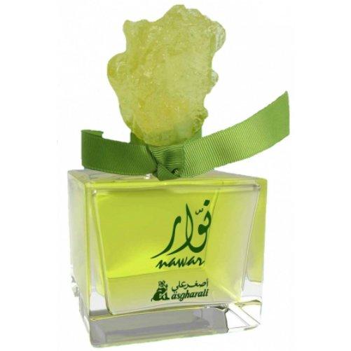 NawarAsgharali<br>Производство: Бахрейн Nawar Asgharali - это аромат для женщин, принадлежит к группе ароматов цветочные фруктовые сладкие. Nawar выпущен в 2013. Верхние ноты: Белая фрезия, Бергамот и Персик; ноты сердца: Жасмин, Фиалка, пачули и Сандаловое дерево; ноты базы: Амбра, Карамель, Мускус и Ваниль.<br><br>Линейка: Nawar<br>Объем мл: 100<br>Пол: Женский