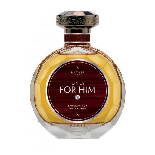 Only For HimHayari Parfums<br>Производство: Франция Only For Him от Hayari Parfums - это аромат для мужчин, принадлежит к группе ароматов восточные древесные. Этот аромат, Only For Him выпущен в 2014 году. Парфюмер: Cecile Zarokian. Верхние ноты: Бергамот, апельсин, грейпфрут, черный перец и Элеми; ноты сердца: Жасмин, Ландыш, зеленые ноты, пачули и Папирус; ноты базы: Белый кедр, Ветивер, Дерево Гуаяк, Амбра, Бензоин, Мускус и Дубовый мох.<br><br>Линейка: Only For Him<br>Объем мл: 100<br>Пол: Мужской