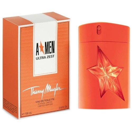 A*Men Ultra ZestThierry Mugler<br>Производство: Франция A*Men Ultra Zest от Thierry Mugler - это аромат для мужчин, принадлежит к группе ароматов древесно-пряные. Этот аромат, A*Men Ultra Zest выпущен в 2015 году и был создан Jacques Huclier и Quintin Bisch. Верхние ноты: красный апельсин, Тангерин, Имбирь и Мята; ноты сердца: Корица, Кофе и черный перец; ноты базы: Тонка бобы, пачули и Ваниль.<br><br>Линейка: A*Men Ultra Zest<br>Объем мл: 100<br>Пол: Мужской