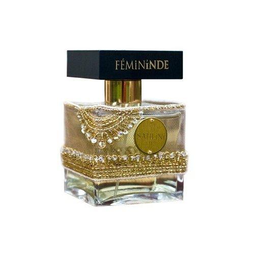 FeminindeSahlini Parfums<br>Производство: Франция Femininde от Sahlini Parfums - это аромат для женщин, принадлежит к группе ароматов восточно-пряные. Femininde выпущен в 2009 году. Парфюмер: Celine Martin. Верхние ноты: кардамон, бразильский апельсин и черный перец; ноты сердца: гвоздика, роза и ветивер; ноты базы: Сандаловое дерево, цейлонская корица, Кумин и Нулу бальзам.<br><br>Линейка: Femininde<br>Объем мл: 100<br>Пол: Женский