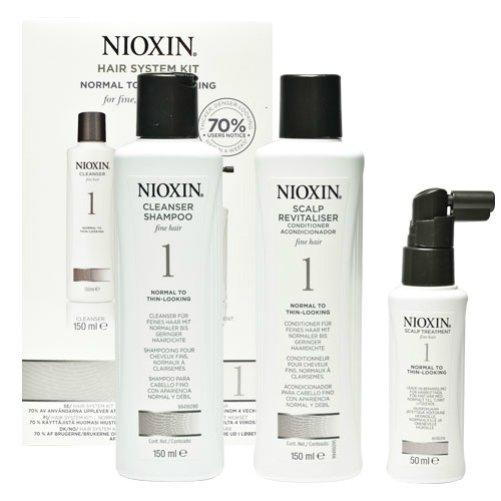 Hair System Kit 01Nioxin<br>Производство: США &amp;nbsp;Набор 3-x ступенчатой системы для истонченных волос, которые имеют тенденцию к поредению. Система 1 состоит из трех средств базового комплексного ухода: шампуня, бальзама и маски. 1. Очищающий шампунь NIOXIN деликатно удаляет загрязнения, очищает поры кожи головы. Питательные вещества шампуня проникают в эпидермис и насыщают макро- и микроэлементами клетки волосяных фолликул. 2. Кондиционер NIOXIN придает волосам дополнительный объем, упругость и сияние. 3. Питательная маска NIOXIN - это коктейль из активных антиоксидантный средств, растительных вытяжек и витаминных комплексов для здоровья ваших волос. &amp;nbsp; Применение: &amp;nbsp; 1 этап &amp;ndash; вымойте голову шампунем NIOXIN. Для усиления действия втирайте его в кожу головы примерно 1-2 минуты, затем смойте. 2 этап &amp;ndash; нанесите кондиционер NIOXIN на влажные волосы на 3-5 минут, затем смойте. 3 этап &amp;ndash; используйте маску NIOXIN в качестве средства завершающего ухода. Подсушите полотенцем волосы. Нанесите маску на кожу головы после мытья. Помассируйте. Не смывайте.Обратите внимание, что после применения маски возможно кратковременное покраснение зон нанесения. Это связано с усилением кровообращения.<br><br>Линейка: Hair System Kit 01<br>Объем мл: (шампунь 150 + кондиционер 150 + маска 40)<br>Пол: Женский