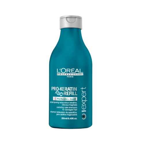 Pro-Keratin Refill ShampooLOreal<br>Производство: Великобритания Pro-Keratin Refill Shampoo - восстанавливающий и укрепляющий шампунь для поврежденных волос. Бережно очищает волосы. Делает их мягкими и послушными. Инновационная технология комплекса PRO-KERATIN и молекулы INCELL компенсирует потерю внутренней материи волоса, возвращая ему силу и здоровье, и воссоздает на его поверхности защитный каркас, предотвращая воздействие агрессивных факторов окружающей среды. Придает дополнительный блеск, необходимую гладкость и шелковистость. Устраняет нежелательную пушистость и делает волосы послушными. Исследования показали, что волосы на 70% становятся менее ломкими и хрупкими. Результат. Благодаря регулярному применению шампуня от L`Oreal, ваши волосы вновь обретут природную силу, здоровое сияние, став более крепкими, густыми и сияющими. Применение: Равномерно распределите шампунь по влажным волосам и вспеньте. Тщательно смойте.<br><br>Линейка: Pro-Keratin Refill Shampoo<br>Объем мл: 250<br>Пол: Женский