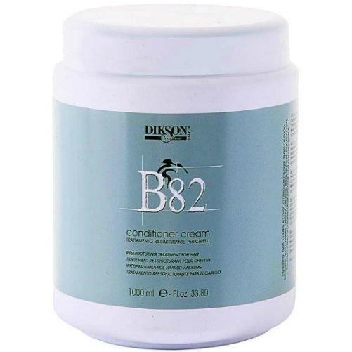 В82 Conditioner CreamDikson<br>Производство: Италия Восстанавливающий крем-кондиционер с провитамином B5. Это средство обеспечивает интенсивное лечение поврежденных и чрезвычайно сухих волос. Увеличивает естественную стойкость волос к внешним негативным факторам. Рекомендуется не только как маска для интенсивного лечения, но и как постоянный уход для поддержания оптимального состояния волос. Кондиционер идеален для окрашенных и поврежденных волос. Фруктовые кислоты, входящие в состав, обеспечивают низкий уровень pH, что быстро восстанавливает структуру волос. Основным компонентом крема-кондиционера является провитамин В5, который стимулирует обменные процессы, защищает волосы от различных стрессовых воздействий, усиливает рост волос, способствует их активному насыщению красящими веществами. Применение: Нанесите необходимое количество крема-кондиционера на волосы. Оставьте на 10-20 минут, затем смойте теплой водой.<br><br>Линейка: В82 Conditioner Cream<br>Объем мл: 1000<br>Пол: Женский
