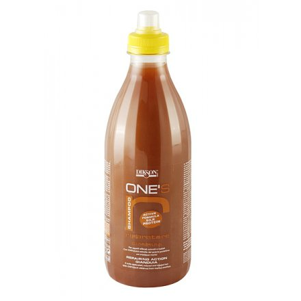 One`s Shampoo RiparatoreDikson<br>Производство: Италия Восстанавливающий шампунь для сухих, поврежденных и окрашенных волос, шоколад с орехами. Это средство обладает длительным восстанавливающим эффектом и препятствует образованию секущихся кончиков. Создает на поверхности волоса защитную пленку, предотвращает их ломкость, а также сохраняет ярким цвет волос в течение длительного времени. Применение: Нанести на влажные волосы шампунь , помассировать и смыть. При необходимости повторить.<br><br>Линейка: One`s Shampoo Riparatore<br>Объем мл: 1000<br>Пол: Женский