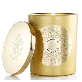Amouage Candle Divine OudAmouage<br>Производство: Оман Amouage Candle Divine Oud&amp;nbsp; &amp;ndash; парфюмированная свеча для дома. Изысканный аромат цветочных и древесных нот, смешиваясь при нагревании, наполняет дом теплом и благоуханием. Свеча-релаксант подарит вам незабываемые минуты покоя и вдохновения, наполняя дом уютом и мягким светом. Свеча заключена в золотистый флакон с металлической крышкой. Amouage Candle Divine Oud &amp;ndash; это парфюмерная композиция, состоящая из нот мандарина, корицы, ладана, мирры и розы, атласского кедра, сандалового дерева и дерева Гуаяк в окружении оттенков ветивера, листьев пачули и мускуса, ладанника, амбры и ванили.<br><br>Линейка: Amouage Candle Divine Oud<br>Объем мл: (парфюмированная свеча 3*55 гр)<br>Пол: Унисекс