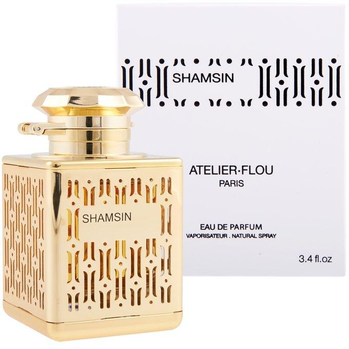 ShamsinAtelier Flou<br>Производство: Франция &amp;nbsp;Shamsin Atelier Flou - это аромат для женщин, принадлежит к группе ароматов восточные цветочные. Верхние ноты: Жасмин и Нарцисс; ноты сердца: роза, Ирис, Лабданум и олибанум; ноты базы: Мускус, Белый кедр, пачули и Ваниль. &amp;nbsp;<br><br>Линейка: Shamsin<br>Объем мл: 100<br>Пол: Женский