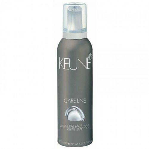 Care Line Style Creators Mineral MouseKeune<br>Производство: Нидерланды Мусс укладочный с природными минералами. Это самое подходящее средство для сильной фиксации стильной прически! Благодаря натуральным ингредиентам он не только придает стойкость укладке, но и заботится о здоровье волос. Мусс содержит мультифруктовый компонент, который эффективно защищает локоны от горячего воздуха фена. Специальный ультрафиолетовый фильтр не даст повредить волосы палящим солнечным лучам. Красота и надежная защита &amp;ndash; основные задачи данного средства, с которыми оно превосходно справляется! Применение: Встряхните тубу, выдавите мусс и распределите по влажным волосам. Не смывать!<br><br>Линейка: Care Line Style Creators Mineral Mouse<br>Объем мл: 200<br>Пол: Женский