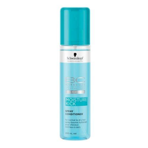 BC Moisture Kick Spray ConditionerSchwarzkopf<br>Производство: Германия Семейство: восточные BC Moisture Kick Spray Conditioner - кондиционер-спрей для нормальных и сухих волос.&amp;nbsp;<br>Действие:<br>Спрей-кондиционер увлажняет волосы. Доставляет и удерживает влагу в волосах. Мгновенно распутывает волосы и улучшает расчесываемость. Разглаживает поверхность. Придает здоровый блеск.<br>Активные компоненты:<br>Производная гиалуроновой кислоты.<br>&amp;nbsp;<br>Применение:<br>&amp;nbsp;<br>Хорошо встряхните флакон. Нанесите спрей-кондиционер на подсушенные полотенцем волосы по всей длине. Не смывайте. Подходит для ежедневного использования.&amp;nbsp;&amp;nbsp;<br><br>Линейка: BC Moisture Kick Spray Conditioner<br>Объем мл: 200<br>Пол: Женский<br>Аромат: восточные