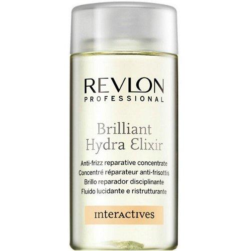 Interactives Brilliant Hydra ElixirRevlon Professional<br>Производство: Испания Семейство: восточные &amp;nbsp;Востанавливающий концентрат для секущихся кончиков. Это средство способно удерживать влагу внутри волос. Придает сухим волосам блеск и облегчает укладку непослушных волос. Восстанавливает секущиеся кончики волос. Защищает и увлажняет сухие волосы делая их мягкими, блестящими и послушными. Применение: нанести небольшое количество средства на влажные или сухие волосы. Не смывать.&amp;nbsp;<br><br>Линейка: Interactives Brilliant Hydra Elixir<br>Объем мл: 125<br>Пол: Женский<br>Аромат: восточные