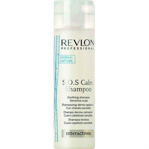 Interactives S.O.S. Calm ShampooRevlon Professional<br>Производство: Испания Семейство: восточные &amp;nbsp;Очищающий шампунь для волос. Это средство предназначено для бережного очищения, увлажнения и восстановления волос и чувствительной и раздраженной кожи головы. Успокаивающий шампунь нежно очищает волосы, а также успокаивает раздражительную и чувствительную кожу головы. Комплекс Hydra Capture смягчает кожу головы изнутри, тем самым усиливая защитные функции. Удаляет застойные явления и смягчает волосяное волокно. Применение: небольшое количество шампуня равномерно распределить по поверхности влажных волос, вспенить, смыть водой.&amp;nbsp;<br><br>Линейка: Interactives S.O.S. Calm Shampoo<br>Объем мл: 250<br>Пол: Женский<br>Аромат: восточные