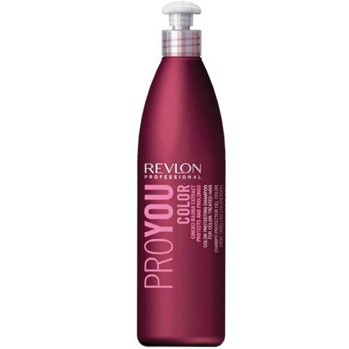 Pro You Color ShampooRevlon Professional<br>Производство: Испания Семейство: восточные &amp;nbsp;Шампунь для сохранения цвета окрашенных волос. Это средство создано для сохранения цвета окрашенных волос, фиксируя результат окрашивания, вплоть до следующего процесса смены цвета волос. Средство наполняет светлые, блондированные и мелированные волосы сильной энергией, усиливающей цвет светлых волос. В состав шампуня входят гинкго билоба и UVA/UVB фильтры, защищающие волосы от воздействия солнечных лучей, приводящих к потери цвета. Восстанавливающие же ингредиенты, позволяют сохранить цвет волос на еще более длительный срок. Подходит для частого применения. Применение: шампунь необходимо разбавить водой и нанести на влажные волосы. Массирующими движениями распределить по всей длине волос, затем тщательно смыть. Избегайте попадания в глаза.&amp;nbsp;Вся продукция, представленная в нашем магазине, является оригинальной. Мы гарантируем своевременную доставку и сервис высокого уровня. Совершите покупку на odeurs.ru и получите пробники в подарок.<br><br>Линейка: Pro You Color Shampoo<br>Объем мл: 1000<br>Пол: Женский<br>Аромат: восточные