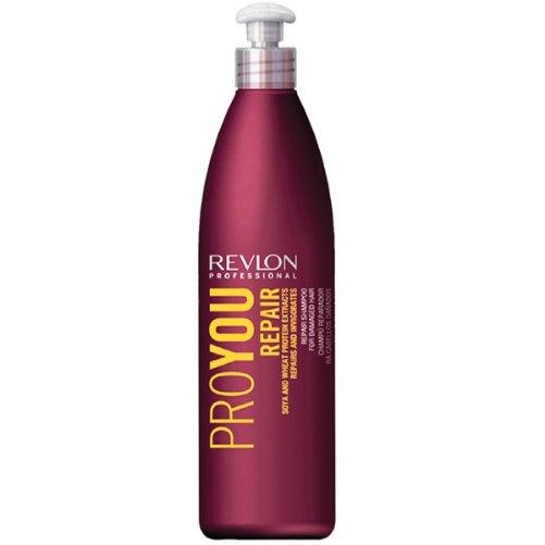 Pro You Repair ShampooRevlon Professional<br>Производство: Испания Семейство: восточные &amp;nbsp;Шампунь для волос восстанавливающий. Это средство восстанавливает и укрепляет кутикулу, питает, реконструирует и защищает волосы. Обеспечивает термальную защиту в целях предотвращения дегидратации волос. Восстанавливающий шампунь содержит природные компоненты, которые не только улучшают внешний вид прядей, но и лечит их изнутри. Экстракт зародышей сои и протеины пшеницы содержат массу аминокислот и микроэлементов, которые наполняют волосяные луковицы энергией, витаминами и питательными веществами. В результате волосам возвращается натуральный блеск, они становятся сильнее, активизируется их рост. Применение: нанесите небольшое количество на влажные волосы. Помассируйте голову несколько минут, затем смойте теплой водой.&amp;nbsp;<br><br>Линейка: Pro You Repair Shampoo<br>Объем мл: 350<br>Пол: Женский<br>Аромат: восточные