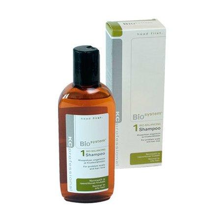 Bio System Shampoo 1KC Professional<br>Производство: Финляндия Семейство: восточные Bio System Shampoo 1 - шампунь для нормальных и жирных волос снимает раздражение и зуд. Хорошо очищает, поддерживает оптимальный баланс увлажнения волос и кожи головы.<br>Действие:<br>Шампунь для борьбы с проблемами кожи головы. Удаляет перхоть и предотвращает дальнейшее появление. Хорошо очищает, поддерживает оптимальный баланс увлажненности волос и кожи головы. Снимает раздражение и нейтрализует покраснения.&amp;nbsp;<br>&amp;nbsp;<br>Применение:&amp;nbsp;<br>&amp;nbsp;<br>Нанесите шампунь на влажные волосы и вспеньте, распределив по всей длине волос. Тщательно смойте.&amp;nbsp;&amp;nbsp;<br><br>Линейка: Bio System Shampoo 1<br>Объем мл: 200<br>Пол: Женский<br>Аромат: восточные