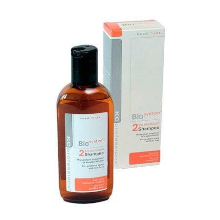 Bio System Shampoo 2KC Professional<br>Производство: Финляндия Семейство: восточные Bio System Shampoo 2 - шампунь для сухих и окрашенных волос удаляет стойкую сухую перхоть (Seborrhea sicca) и эффективно успокаивает раздраженную кожу головы. Подходит для людей, склонных к аллергическим реакциям.<br>Действие:<br>Интенсивный увлажняющий шампунь для сухих волос и волос подвергшихся химической обработке (окрашивание, обесцвечивание, химическая завивка и т. д.). Удаляет перхоть и предотвращает ее дальнейшее появление. Снимает раздражение и нейтрализует покраснения. Усиливает цвет волос после окрашивания и делает его более стойким и блестящим.<br>&amp;nbsp;<br>Применение:&amp;nbsp;<br>&amp;nbsp;<br>Нанесите шампунь на влажные волосы и вспеньте, распределив по всей длине волос. Тщательно смойте.&amp;nbsp;<br><br>Линейка: Bio System Shampoo 2<br>Объем мл: 200<br>Пол: Женский<br>Аромат: восточные