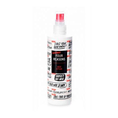 Four Reasons Heat StylerKC Professional<br>Производство: Финляндия Семейство: восточные Four Reasons Heat Styler - спрей термозащитный для укладки волос.<br>Описание:<br>Спрей термозащитный защищает волосы, облегчает расчесывание, предназначен для работы с горячими инструментами. Защищает волосы от тепла и сокращает время работы. После использования волосы легко укладываются и устойчивы к влаге. Приятный аромат ванили с оттенком корицы.<br>&amp;nbsp;<br>Применение:<br>&amp;nbsp;<br>Спрей наносится на чистые влажные или сухие волосы. Не смывать. Приступить к укладке.&amp;nbsp;&amp;nbsp;<br><br><br><br>Линейка: Four Reasons Heat Styler<br>Объем мл: 250<br>Пол: Женский<br>Аромат: восточные