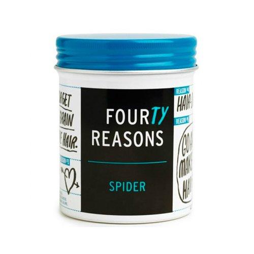 Four Reasons SpiderKC Professional<br>Производство: Финляндия Семейство: восточные Four Reasons Spider - структурная паста для легкой укладки и фиксации.<br>Описание:<br><br>Паста для укладки, которая качественно фиксирует волосы и помогает в моделировании прически, придает легкий прикорневой объем и позволяет волосам оставаться естественными, подвижными и легкими. Идеально подходит для коротких и средней длины волос.<br>&amp;nbsp;<br><br>Применение:<br>&amp;nbsp;<br>Возьмите небольшое количество средства Four Reasons Spider, разотрите ладонями, а затем нанесите на волосы, можно приступать к укладке.&amp;nbsp;&amp;nbsp;<br><br>Линейка: Four Reasons Spider<br>Объем мл: 100<br>Пол: Женский<br>Аромат: восточные