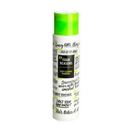 Four Reasons Deep Cleanse ShampooKC Professional<br>Производство: Финляндия Семейство: восточные Four Reasons Deep Cleanse Shampoo - шампунь для глубокой очистки.<br>Описание:<br>Шампунь для глубокой очистки. Подходит для всех типов волос. Очищает волосы от остатков средств укладки, жесткой воды и других загрязнений. Защищает волосы от солнечных лучей.<br>Не рекомендуется для ежедневного использования.<br>&amp;nbsp;<br>Применение:<br>&amp;nbsp;<br>Нанести шампунь на влажные волосы, тщательно вспенить. Оставить на несколько минут, затем смыть.&amp;nbsp;&amp;nbsp;<br><br><br><br>Линейка: Four Reasons Deep Cleanse Shampoo<br>Объем мл: 300<br>Пол: Женский<br>Аромат: восточные