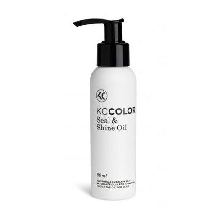 Seal and Shine OilKC Professional<br>Производство: Финляндия Семейство: восточные Seal and Shine Oil - масло защитное для кожи головы.<br>Действие:<br>Масло двойного действия, защищает кожу головы во время окрашивания и придает волосам блеск. Добавляется в красящую смесь, питает кожу головы и придает волосам здоровый блеск. Можно использовать на сухих и химически обработанных волосах, заметно улучшает равномерность распределения красящей смеси по волосам. Рекомендуется использовать также при процедуре химической завивки или распрямления волос.<br>&amp;nbsp;<br>Применение:<br>1)Используйте в качестве защитного крема.<br>Нанесите средство на линию роста волос кончиками пальцев перед применением краски или средства для химической завивки. Предотвращает окрашивание кожи головы.<br>2)Используйте в качестве усилителя блеска и защитного крема.<br>Добавьте 2&amp;ndash;4 капли защитного масла Seal &amp;amp; Shine в краску для волос и тщательно перемешайте. Нанесите краску на волосы. Добавляет блеск и предотвращает окрашивание кожи головы.&amp;nbsp;&amp;nbsp;<br><br><br><br>Линейка: Seal and Shine Oil<br>Объем мл: 80<br>Пол: Женский<br>Аромат: восточные