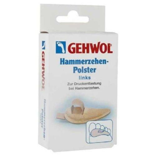 Hammerzehen-Polster linksGehwol<br>Производство: Германия &amp;nbsp;&amp;nbsp;Подушечка под пальцы ног маленькая левая Геволь (Gehwol Hammerzehen-Polster links) защищающие кожу подушечки с регулируемой по размеру петелькой. Для снятия сильного напряжения или нагрузки между или на пальцы. Назначение: для снятия сильного напряжения или нагрузки между или на пальцы. Количество в упаковке: 1 штука в картонной упаковке (маленькая для левой ноги).&amp;nbsp;<br><br>Линейка: Hammerzehen-Polster links<br>Объем мл: 1 маленькая (шт)<br>Пол: Унисекс