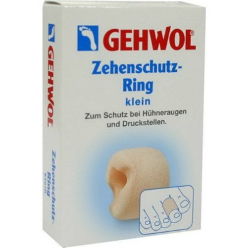 Zehenschutz-Ring kleinGehwol<br>Производство: Германия &amp;nbsp;&amp;nbsp;Защитные кольца для пальцев Gehwol Zehenschutz-Ring изготовлены из гипоаллергенного пенистого материала, прошедшего строгий дерматологический контроль. При надевании они хорошо вписываются в анатомическую форму ноги и эффективно защищают чувствительные участки кожи от образования потертостей, раздражений, мозолей, костяных наростов и возникновения болезненных ощущений. Кольца обеспечивают хорошую вентиляцию в межпальцевой зоне, что снижает активность местных микроорганизмов. Предназначены для многоразового использования, после применения их необходимо тщательно вымыть и очистить от загрязнений. Ношение защитных колец и защитных колпачков для пальцев рекомендовано людям с деформированными, плотноприлегающими пальцами. Назначение: Эластичные защитные кольца для профилактики образования мозолей, потертостей, костяных наростов, а также уменьшения болевых ощущений при наличии данных проблем. Количество в упаковке: 2 штуки в картонной упаковке (малые).&amp;nbsp;&amp;nbsp;<br><br>Линейка: Zehenschutz-Ring klein<br>Объем мл: 2 (шт)<br>Пол: Унисекс