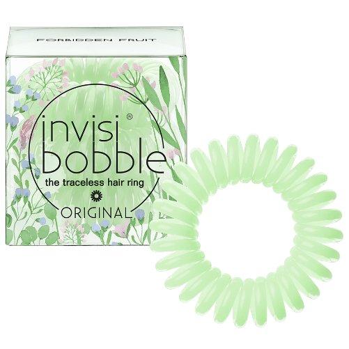ORIGINAL Forbidden FruitInvisibobble<br>Производство: Китай Invisibobble ORIGINAL Forbidden Fruit - резинка-браслет для волос.<br>Цвет: нежно-зеленый<br>Материал: искусственная смола<br>Размер: внешний диаметр 3 см., внутренний диаметр 16 мм.<br>Уникальная резинка для волос обладает рядом преимуществ по сравнению с обычными резинками:<br>- Не имеет швов, которые могли бы цеплять и рвать волосы;<br>- Не оставляет заломов благодаря своей инновационной форме телефонного шнура;<br>- Не перетягивает волосы, что помогает избегать их выпадения и головных болей;<br>- Бережет волосы, не ломая их и не нанося им никакого вреда;<br>- Подходит для любого типа волос - кудрявых и прямых, тонких и густых, и т.д.;<br>- Может также носиться как яркий браслет.  <br><br>Линейка: ORIGINAL Forbidden Fruit<br>Объем мл: 3 (шт.)<br>Пол: Унисекс