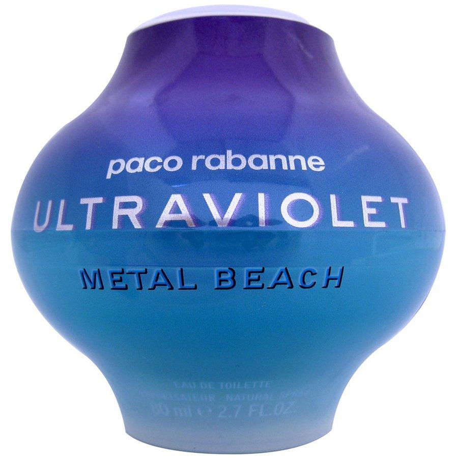 Ultraviolet Metal BeachPaco Rabanne<br>Год выпуска: 2001 Производство: Франция Семейство: восточные пряные Верхние ноты:  Перец, Имбирь, Красный перец Средние ноты:  Цикламен, Османтус, Водяная лилия Базовые ноты:   Амбра, Ваниль, Белый мускус Ultraviolet Metal Beach Paco Rabanne - это аромат для женщин, принадлежит к группе ароматов восточные пряные. Ultraviolet Metal Beach выпущен в 2001. Парфюмер: Jacques Cavallier. Верхние ноты: Перец, Имбирь, Оранжевый перец и Красный перец; ноты сердца: Цикламен, Османтус и Водяная лилия; ноты базы: Амбра, Ваниль и Белый мускус.<br><br>Линейка: Ultraviolet Metal Beach<br>Объем мл: 80<br>Пол: Женский<br>Аромат: восточные пряные<br>Ноты: Перец, Имбирь, Красный перец,  Цикламен, Османтус, Водяная лилия,   Амбра, Ваниль, Белый мускус<br>Тип: туалетная вода<br>Тестер: нет