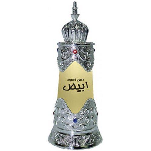 Dehn al Oudh AbiyadAfnan Perfumes<br>Производство: Объединённые Арабские Эмираты Семейство: древесные цветочные мускусные Верхние ноты:  Трава, древесные ноты, Мускус Dehn al Oudh Abiyad Afnan Perfumes &amp;mdash; это аромат для мужчин и женщин, он принадлежит к группе древесные цветочные мускусные. Композиция аромата включает ноты: Травы, Древесные ноты и Мускус.<br><br>Линейка: Dehn al Oudh Abiyad<br>Объем мл: 20<br>Пол: Унисекс<br>Аромат: древесные цветочные мускусные<br>Ноты: Трава, древесные ноты, Мускус<br>Тип: масляные духи<br>Тестер: нет