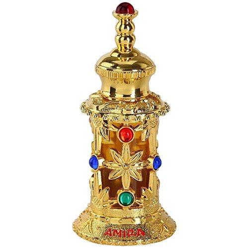 Amira GoldAl Haramain Perfumes<br>Производство: Объединённые Арабские Эмираты Семейство: восточные Верхние ноты:   Амбра, Сандал, Мускус, апельсин, Ладан, Ваниль, уд, Цветочные ноты Amira Gold Al Haramain Perfumes &amp;mdash; это аромат для женщин, он принадлежит к группе восточные. Композиция аромата включает ноты: Амбра, Сандал, Мускус, Апельсин, Ладан, Ваниль, Уд и Цветочные ноты.<br><br>Линейка: Amira Gold<br>Объем мл: 12<br>Пол: Женский<br>Аромат: восточные<br>Ноты: Амбра, Сандал, Мускус, апельсин, Ладан, Ваниль, уд, Цветочные ноты<br>Тип: масляные духи<br>Тестер: нет