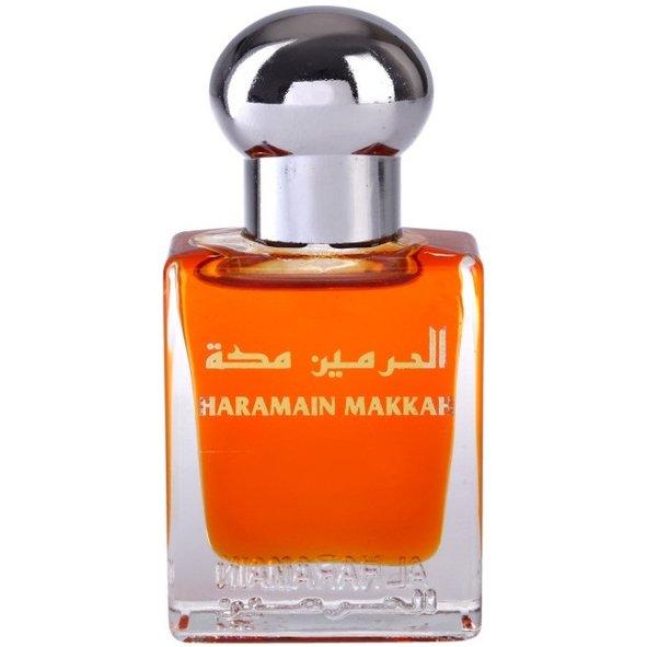 MakkahAl Haramain Perfumes<br>Производство: Объединённые Арабские Эмираты Семейство: восточные Верхние ноты:  зеленые ноты, Цитрусы Средние ноты:  Жасмин, Апельсиновый цвет, клубника Базовые ноты:   Амбра, Cмолы, Мускус, пудровые ноты, Ваниль Makkah Al Haramain Perfumes &amp;mdash; это аромат для мужчин и женщин, он принадлежит к группе восточные. Верхние ноты: Зеленые ноты и Цитрусы; средние ноты: Жасмин, Апельсиновый цвет и Клубника; ноты базы: Амбра, cмолы, Мускус, Пудровые ноты и Ваниль.&amp;nbsp;<br><br>Линейка: Makkah<br>Объем мл: 15<br>Пол: Унисекс<br>Аромат: восточные<br>Ноты: зеленые ноты, Цитрусы,  Жасмин, Апельсиновый цвет, клубника,   Амбра, Cмолы, Мускус, пудровые ноты, Ваниль<br>Тип: масляные духи<br>Тестер: нет