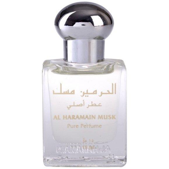 MuskAl Haramain Perfumes<br>Производство: Объединённые Арабские Эмираты Семейство: восточные цветочные Верхние ноты:  Ваниль, Мускус, Цветочные ноты, Мята, Фруктовые ноты Musk Al Haramain Perfumes &amp;mdash; это аромат для женщин, он принадлежит к группе восточные цветочные. Композиция аромата включает ноты: Ваниль, Мускус, Цветочные ноты, Мята и Фруктовые ноты.&amp;nbsp;<br><br>Линейка: Musk<br>Объем мл: 15<br>Пол: Женский<br>Аромат: восточные цветочные<br>Ноты: Ваниль, Мускус, Цветочные ноты, Мята, Фруктовые ноты<br>Тип: масляные духи<br>Тестер: нет