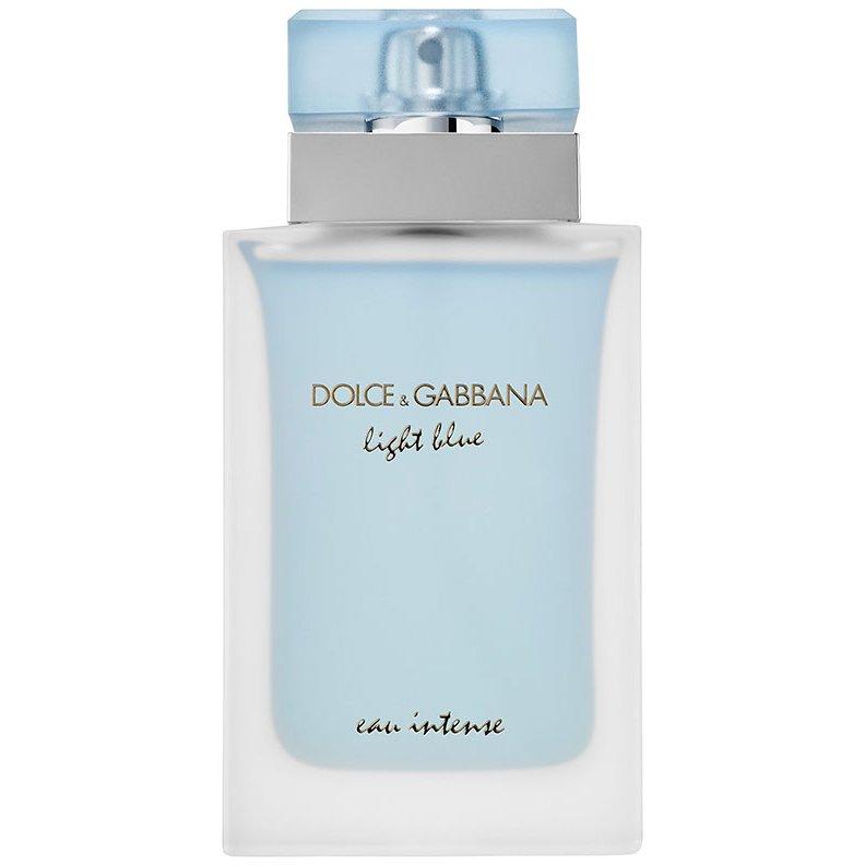 Light Blue Eau IntenseDolce And Gabbana<br>Год выпуска: 2017 Производство: Великобритания Семейство: цветочные фруктовые Верхние ноты:  Лимон, Яблоко Гренни Смит Средние ноты:  Календула, Жасмин Базовые ноты:  древесный янтарь, Мускус Light Blue Eau Intense Dolce&amp;amp;Gabbana &amp;mdash; это аромат для женщин, он принадлежит к группе цветочные фруктовые. Это новое издание: Light Blue Eau Intense выпущен в 2017 году. Парфюмер: Olivier Cresp. Верхние ноты: Лимон и Яблоко Гренни Смит; средние ноты: Календула и Жасмин; базовые ноты: Древесный янтарь и Мускус.&amp;nbsp;<br><br>Линейка: Light Blue Eau Intense<br>Объем мл: 50<br>Пол: Женский<br>Аромат: цветочные фруктовые<br>Ноты: Лимон, Яблоко Гренни Смит,  Календула, Жасмин,  древесный янтарь, Мускус<br>Тип: парфюмерная вода<br>Тестер: нет