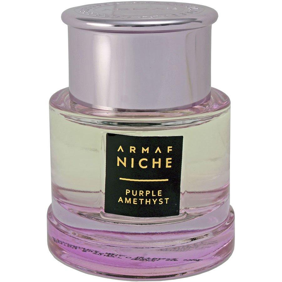 Purple AmethystArmaf<br>Год выпуска: 2014 Производство: Объединённые Арабские Эмираты Семейство: цветочные древесно-мускусные Верхние ноты:  Лимон, Личи, Роза Средние ноты:  Магнолия, Апельсиновый цвет, роза, Ирис Базовые ноты:   Амбра, Мускус, Пачули Purple Amethyst Armaf &amp;mdash; это аромат для женщин, он принадлежит к группе цветочные древесно-мускусные. Верхние ноты: Лимон, Личи и Роза; средние ноты: Магнолия, Апельсиновый цвет, Роза и Ирис; базовые ноты: Амбра, Мускус и Пачули.&amp;nbsp;<br><br>Линейка: Purple Amethyst<br>Объем мл: 90<br>Пол: Женский<br>Аромат: цветочные древесно-мускусные<br>Ноты: Лимон, Личи, Роза,  Магнолия, Апельсиновый цвет, роза, Ирис,   Амбра, Мускус, Пачули<br>Тип: парфюмерная вода<br>Тестер: нет