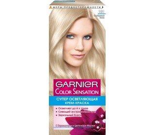 GARNIER Color Sensation оттенок 101 Серебристый блондGARNIER<br><br><br>Линейка: GARNIER Color Sensation оттенок 101 Серебристый блонд<br>Объем мл: 150г<br>Пол: Женский