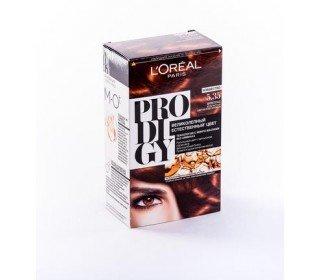 L`OREAL Prodigy 5.35 Шоколад ЗолотистыйLOreal<br>Производство: Великобритания Краска для волос LOreal PRODIGY 5.35 Шоколад Золотистый станет удачным выбором для домашнего окрашивания. Инновационные технологии, простой способ использования и щадящее действие краски – это забота специалистов компании LOreal о каждой современной женщине. Натуральный и исключительно живой, переливающийся оттенок создается за счет использования особых микромасел в составе краски. Они питают и ухаживают за волосами, а также активируют пигмент, делая цвет более насыщенным и стойким. Купить краску для волос LOreal PRODIGY 5.35 Шоколад Золотистый можно в Москве в торговом центре METRO. Производитель: LOreal Paris, Франция. Состав: 1 Красящий Крем (60 г) 1 Проявляющая Эмульсия (60 г) 1 Уход-усилитель Блеска (60 мл) 1 Инструкция 1 Пара перчаток 1.0 Состав: Красящий крем 1146239(C161729/2): PARAFFINUM LIQUIDUM / MINERAL OIL , AQUA / WATER , ETHANOLAMINE , STEARETH-20 , CAPRYLYL/CAPRYL GLUCOSIDE , POLYSORBATE 21 , TOLUENE-2,5-DIAMINE , STEARETH-2 , RESORCINOL , 2,4-DIAMINOPHENOXYETHANOL HCl , m-AMINOPHENOL , ASCORBIC ACID , SODIUM METABISULFITE , HYDROXYBENZOMORPHOLINE , ARGANIA SPINOSA OIL / ARGANIA SPINOSA KERNEL OIL , THIOGLYCERIN , POLYQUATERNIUM-67 , N,N-BIS(2-HYDROXYETHYL)-p-PHENYLENEDIAMINE SULFATE , CARTHAMUS TINCTORIUS OIL / SAFFLOWER SEED OIL , EDTA , PARFUM / FRAGRANCE , Проявляющая эмульсия 1071397(C42424/1): AQUA / WATER , PARAFFINUM LIQUIDUM / MINERAL OIL , HYDROGEN PEROXIDE , CETEARYL ALCOHOL , STEARETH-20 , PEG-4 RAPESEEDAMIDE , TOCOPHEROL , SODIUM STANNATE , POLYQUATERNIUM-6 , PENTASODIUM PENTETATE , PHOSPHORIC ACID , TETRASODIUM PYROPHOSPHATE , HEXADIMETHRINE CHLORIDE , GLYCERIN , Уход-усилитель Блеска 1087475(C159703/2): AQUA / WATER , CETEARYL ALCOHOL , BEHENTRIMONIUM CHLORIDE , CETYL ESTERS , LACTIC ACID , TRIDECETH-6 , CHLORHEXIDINE DIGLUCONATE , LIMONENE , LINALOOL , BENZYL SALICYLATE , BENZYL ALCOHOL , AMODIMETHICONE , ISOPROPYL ALCOHOL , 2-OLEAMIDO-1,3-OCTADECANEDIOL , B
