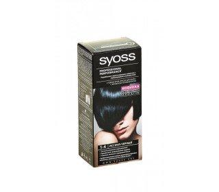 SYOSS 1-4 иссиня-черныйSYOSS<br>Крем-краска для волос SYOSS 1-4 иссиня-черный – это принципиально новый подход к созданию вашего неповторимого образа. Она легко наносится даже в домашних условиях. Немецкое качество и современные разработки дают возможность сочетать в ней стойкий, яркий цвет и уход за волосами по всей длине. С краской SYOSS вы можете забыть о седине. Она создаст ослепительный блеск, обогащенный великолепными, сияющими оттенками. в Москве крем-краску для волос SYOSS 1-4 иссиня-черный, 50мл можно купить в торговом центре METRO по доступной цене. Производитель: Schwarzkopf &amp; Henkel. Размер упаковки: 10 x 17 x 5.5.<br><br>Линейка: SYOSS 1-4 иссиня-черный<br>Объем мл: 50<br>Пол: Женский