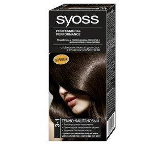 SYOSS 3-1 темно-каштановыйSYOSS<br>Крем-краска для волос SYOSS 3-1 темно-каштановый – профессиональное средство, разработанное и протестированное совместно с колористами и парикмахерами специально для домашнего использования. Краска обеспечивает стойкий цвет на долгое время благодаря высокоэффективной формуле, которая закрепляет цветовые пигменты глубоко внутри волоса. Такой состав гарантирует насыщенный цвет и блеск, а также отлично закрашивает седину. Если после применения средства пользоваться шампунем и бальзамом той же марки, это существенно продлит жизнь вашего цвета. Краску для волос в Москве можно приобрести в торговом центре METRO по приемлемой цене. Содержимое упаковки: 1 тюбик с окрашивающим кремом - 50мл 1 флакон-аппликатор с проявляющим молочком - 50мл 1 саше с кондиционером защита цвета - 15мл 1 инструкция по применению 1 пара пластиковых перчаток. Оттенок: темный каштан. Страна-производитель: Россия. Срок хранения: 3 года. ГОСТ Р 52343-2005.<br><br>Линейка: SYOSS 3-1 темно-каштановый<br>Объем мл: 50<br>Пол: Женский