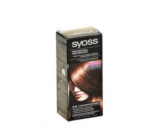 SYOSS 4-8 каштановый шоколадныйSYOSS<br>Крем-краска для волос SYOSS 4-8 каштановый шоколадный, 50мл – специально разработанное профессиональное средство. Аналогичным составом пользуются в парикмахерских, теперь же краска доступна для домашнего применения. Уникальная формула способна обеспечить стойкий цвет, она запечатывает цветовые пигменты глубоко внутри волоса, тем самым продляя яркость и интенсивность оттенка. Состав способен закрасить седину, придать блеск и жизненную силу вашим волосам. Используя шампуни и бальзамы SYOSS, вы существенно продляете жизнь вашему цвету. Крем-краску для волос в Москве можно приобрести в торговом центре METRO по приемлемой цене. Содержимое упаковки: 1 тюбик с окрашивающим кремом - 50мл 1 флакон-аппликатор с проявляющим молочком - 50мл 1 саше с кондиционером защита цвета - 15мл 1 инструкция по применению 1 пара пластиковых перчаток. Оттенок: каштаново-шоколадный. Страна-производитель: Россия. Срок хранения: 3 года. ГОСТ Р 52343-2005.<br><br>Линейка: SYOSS 4-8 каштановый шоколадный<br>Объем мл: 50<br>Пол: Женский
