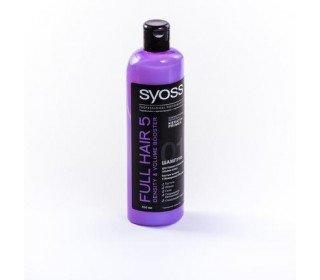 SYOSS Full Hair 5 для тонких и лишенных объема волосSYOSS<br>Шампунь SYOSS Full Hair 5, предназначенный для ухода за тонкими и слабыми, лишенными собственного объема, волосами и созданный с учетом пожеланий профессиональных парикмахеров и стилистов – настоящий профессиональный уход за вашими волосами. Этот шампунь работает сразу в нескольких направлениях: он не только очищает и укрепляет волосы и кожу головы, но и создает необходимую густоту ваших волос и их легкий объем, препятствует ломкости и выпадению. Кроме того, особая формула шампуня помогает стимулировать активную работу волосяных луковиц, запуская рост новых волос. Шампунь SYOSS Full Hair 5 имеет цветочный легкий аромат, который подарит вам приятные ощущения в процессе мытья головы, а также останется тончайшим шлейфом на волосах после высыхания. Его плотная и достаточно густая консистенция позволяет расходовать средство крайне экономно, а большая упаковка объемом 500 мл будет удобна и экономична. Шампунь легко пенится и хорошо смывается, даря вашим волосам изысканную легкость и ощущение чистоты. Позвольте своим волосам приобрести роскошный и восхитительный объем вместе с шампунем от SYOSS, используя линейку товаров ухода за волосами Full Hair 5, найти которую вы можете в Москве в торговом центре METRO. Производитель: Schwarzkopf and Henkel , Россия. Состав: Aqua · Sodium Laureth Sulfate · Cocamidopropyl Betaine · Sodium Chloride · Caffeine · Hydrolyzed Keratin · Prunus Armeniaca Kernel Oil ·Panthenol · Disodium Cocoamphodiacetate · PEG-7 Glyceryl Cocoate · Sodium Benzoate ·Citric Acid · PEG-40 Hydrogenated Castor Oil · Cocamide MEA · Dimethicone · PEG-120Methyl Glucose Dioleate · Parfum · Guar Hydroxypropyltrimonium Chloride · Styrene/Acrylates Copolymer · Hydrogenated Castor Oil · Linalool · Laureth-4 · Laureth-23 · Geraniol · Butylphenyl Methylpropional · Benzyl Alcohol · Hexyl Cinnamal · Propylene Glycol ·Salicylic Acid · Methylparaben · Phenoxyethanol · Potassium Sorbate · CI 60730 · CI 17200. Срок годн