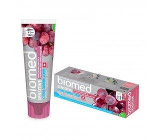 BIOMED Sensitive укрепление эмали и снижение чувствительностиBIOMED<br>Зубная паста BIOMED Sensitive укрепление эмали и снижение чувствительности, 100 г – это уникальная формула для здоровой улыбки. Входящие в состав натуральные ингредиенты служат для обновления эмали. Активные компоненты способствуют сохранению свежего дыхания до 12 часов для уверенности в себе. Комплекс из соды не только удаляет налет, но и полирует эмаль, обеспечивая белоснежный результат за полминуты. Натуральный экстракт ладана позволяет снять напряжение и избавиться от стресса. Вы всегда можете найти зубную пасту BIOMED Sensitive укрепление эмали и снижение чувствительности, 100 г в Москве в торговом центре METRO. Производитель: ООО Органик Фармасьютикалз, Россия, Новгородская область. Состав: Aqua, Hydrogenated Starch Hydrolysate, Dicalcium Phosphate Dihydrate, Hydrated Silica, Glycerin, Cellulose Gum, Sodium Coco-Sulfate, Aroma, Benzyl Alcohol, Tetrasodium Glutamate Diacetate, Sodium Bicarbonate, Qercus Alba Bark Extract, Sodium Benzoate, Potassium Sorbate, Hydroxyapatite, Xanthan Gum, Menthol, Menthyl Lactate, Arginine, Titanium Dioxide, Vigne Rouge Extract, Papain, Decyl Glucoside, Melia Azadirachta Seed Oil, Ananas Sativus Extract, Stevia Rebaudiana Extract, Thymus Serpyllum Extract, Betula Verrucosa Leaf Extract, Plantago Major Extract, Boswellia Serrata Oil, Citrus Limon Peel Oil, Paprica Extract, Capsanthin, Capsorubin, Carmine (Cl 5470), D-Limonene, Eugenol, Linalool. Fluoride free. Срок годности: 36 месяцев. Условия хранения: от 0°С до 25°С. Применение: чистить зубы 30 секунд два раза в день утром и вечером.<br><br>Линейка: BIOMED Sensitive укрепление эмали и снижение чувствительности<br>Объем мл: 100 г<br>Пол: Женский
